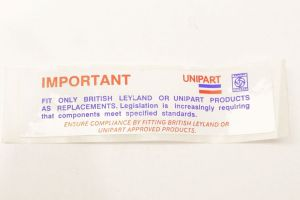 Unipart product sticker