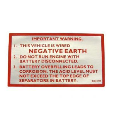 Sticker Negative Earth